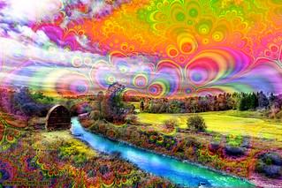 Larry Carlson,  Blue Stream Dream,  digital pigment print on metallic paper, 2013