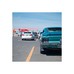 (nizomi) Tags: classic sports car vintage quebec parking lot mustang valdor nizomi