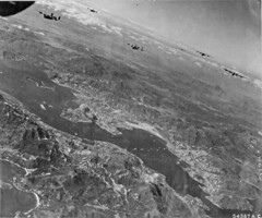 B-24's bombing Kowloon docks and railroad yards Oct 16 1944 (SSAVE) Tags: hongkong japanese wwii worldwarii nara bomb kowloon b24 squadron b25 usaaf 374th 308thbombgroup fold3 chinnault