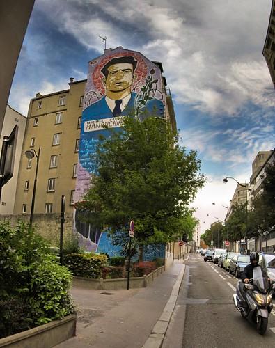 Paris - Fresque Manouchian - 14-6-2013 - 12h18
