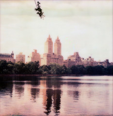 Mirror Reservoir (Mikah_Manansala) Tags: nyc sky film clouds polaroid sx70 instant analogue impossible px70