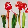(Mega Rutabaga) Tags: illustration ink painting tulips playtime gouache redflowers paintedflowers