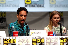 Danny Pudi & Gillian Jacobs (Gage Skidmore) Tags: california brown dan nicole community san comic ken diego jim center international convention danny jacobs gillian yvette brie alison con rash harmon mckenna chri jeong pudi 2013