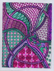 Diva Challenge #128-2- Pencil String-colored (ronniesz) Tags: art diva zentangle