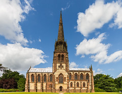Clumber Park - chapel of St. Mary the Virgin (ToonManic) Tags: park blue sky church st clouds 10 mary wide sigma chapel spire virgin mm 20 1020 clumber
