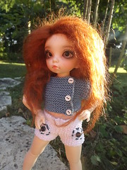 Liliee (littlefee Bisou) (Florchat) Tags: wig mohair littlefee