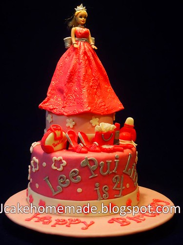 Outstanding Barbie Doll Birthday Cake A Photo On Flickriver Birthday Cards Printable Riciscafe Filternl