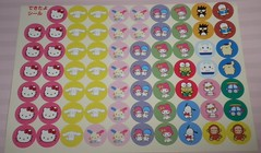 Rare Sanrio Stickers (Vintage Sanrio) Tags: cute art japan paper toy whimsy hellokitty stickers craft sanrio tape kawaii deco kitch stationary sanx mymelody littletwinstars