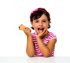 little girl eating ice cream (Marco Govel) Tags: pink summer portrait food white cold cute ice girl beautiful beauty smile face childhood female youth hair studio dessert fun happy person one frozen kid funny pretty child little sweet cone eating young cream adorable tasty lips delicious human icecream vanilla positive cheerful healty