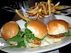 spicy fried chicken sliders (foxie1125) Tags: chicken houston fries slider brcgastropub