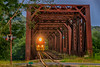 Metallic Tunnel in HDR (B. Hechel) Tags: bridge ohio usa geotagged unitedstates hdr indiancreek emd hooven cleves gp50 emdgp50 iory indianaohiorailway centralrailroadofindiana geo:lat=3917043667 geo:lon=8476006500