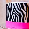 Zebra Stripes (Sweet Pudgy Panda) Tags: birthday pink white black silhouette cake barbie zebra fondant zebrastripes vintagebarbie sweetpudgypanda