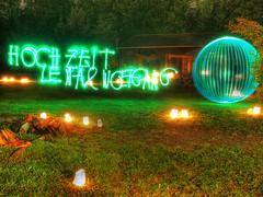 Wedding orb (guenther_haas) Tags: wedding light green night ball painting graffiti nightshot nacht orb olympus grn hochzeit ulm omd nachtaufnahme lichtmalerei balloflight neuulm landgasthof livetime leipheim em5 lichtball waldvogel fhdr lightorb osm:way=236043292