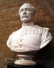 General Gordon of Khartoum, by William Theed (1886) (Snapshooter46) Tags: london khartoum sculptor marblebust generalgordon williamtheed guildhallartgallery