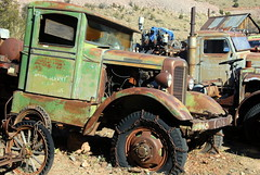 (ONE/MILLION) Tags: road old trip travel vacation arizona cars shop yard town photo junk colorful mine flickr king day fb ghost visit mining jerome don trucks antiques tours share facebook robertson onemillion williestark carrolsedona