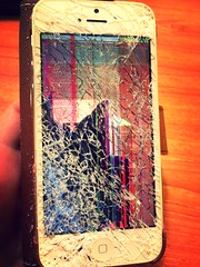 (alexmcmanus9293) Tags: broken death sad phone screen gone forever shattered destroyed ruined iphone