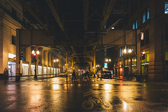 Vanishing Points In Chicago 2 (phraction) Tags: street travel chicago night vanishingpoint samsung rainy lightroom vsco nx300 vscofilm