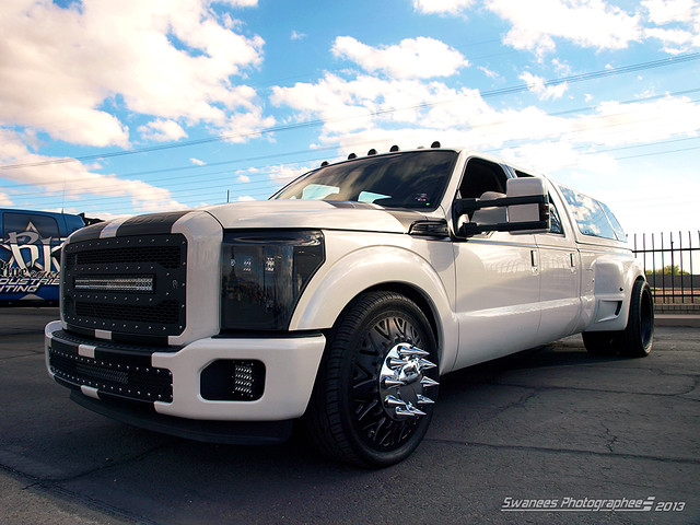 white ford truck pickup custom dually superduty worldtruck