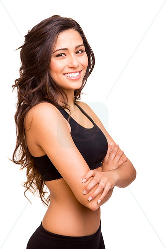 Beautiful fitness woman posing