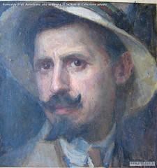 Romualdo Prati Autoritratto olio su tavola 27,5x29cm di Collezione privata