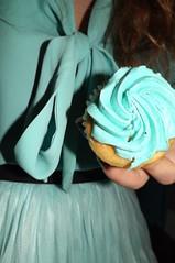 Cupcake Anyone? (katewoods000) Tags: blue party me girl cake yummy turquoise teal skirt blouse cupcake blonde teenager icing tastesgood