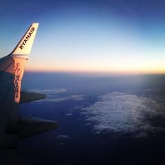 RyanAir Boeing 737-800 (EI-EGD) In The Sky. (Roche B10M VanHool) Tags: dublin irish sun sunshine plane square airplane flight wing lofi squareformat boeing ryanair 737 737800 iphoneography instagramapp uploaded:by=instagram eiegd
