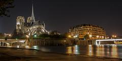 Notre Dame de Paris (FredM.) Tags: paris seine night nikon 75 nuit d90