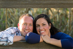 In the fence (ZTW1) Tags: family portrait engagement couple zachwerner autumndavid
