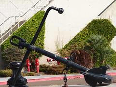Ship anchor on street (El Trinidad) Tags: california usa art sandiego symbol olympus ep2 olympusep2 eltrinidad