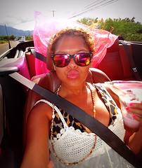 Day trip to the #NorthShore , #Oahu (Σταύρος) Tags: 09242011 northshore hangloose shaka roadtrip sunnyday overcast seatbelt lips sunglasses windy selfie convertible redcar redconvertible fordmustang mustang kiss kisses fordmustangconvertible rentalcar carrental hwy highway blackgirl ebony negra morena bff linda friends petite wahine woman mulheres garota frau fille girl жена femme 女性 mujer kvinna nainen vrou γυναίκα rtw worldtraveler roundtheworld vacation vacanze holiday globetrotter thegatheringplace gatheringplace 10days aloha waikiki honolulu city oahu hawaii island isle paradise mahalo hawaii2011 lei hawaiian northpacific