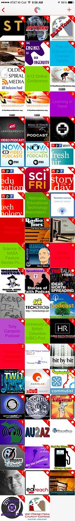 Wes' Podcast Subscriptions in PocketCast by Wesley Fryer, on Flickr