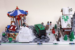 B1-B2_carousel03 (sdrnet) Tags: winter village lego carousel