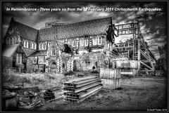Remembering... (Geoff Trotter) Tags: newzealand christchurch blackandwhite bw art monochrome canon earthquake nz hdr remembering chch photomatix 50d canterburynz 3exp canon50d worldhdr geofftrotter christchurchearthquake eqnzchc2010 christchurchearthquake2011 stunningphotogpin