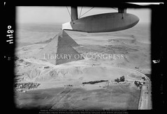 Great Pyramid of Kheops [i.e., Cheops] showing entrance on north side (Giza) (APAAME) Tags: archaeology ancienthistory middleeast aerial libraryofcongress airphoto oblique aerialphotography matsoncollection nitratenegative aerialarchaeology pleiades:depicts=442962448 geocodedbasedonsite