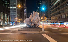 Alice Aycock - Park Avenue Paper Chase (P1310529) (Michael.Lee.Pics.NYC) Tags: park light sculpture newyork art public night paper long exposure alice voigtlander trails matilda chase avenue nokton traffice waltzing aycock 175mm