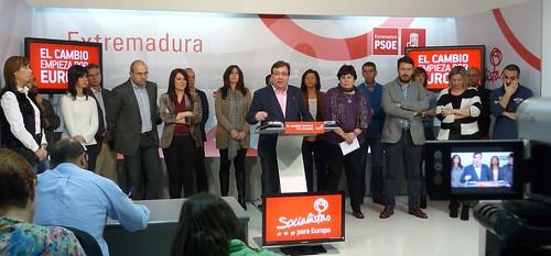 Presentación candidatos extremeños a las elecciones europeas