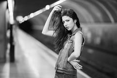 Victoria Nbrega (Marcos Iuato) Tags: portrait fashion underground subway ensaio model photoshoot metro retrato modelo editorial