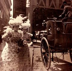 Settling With the Cabby, about 1898 (JFGryphon) Tags: 34thstreet cabby 1895 newmetropolis 1899 longislandferry eidellzeisloft