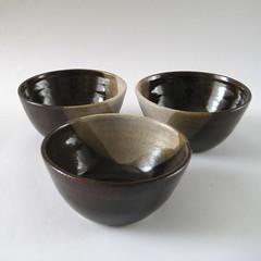 Salt and Pepper Bowls (Jude Allman) Tags: brown ceramic pepper ceramics crafts salt craft bowl pot pots jude clay pottery bowls stoneware allman