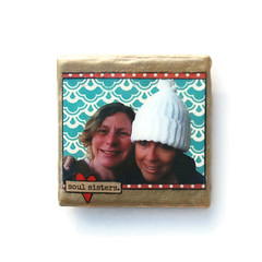 "customized best friends tile handmade hand painted magnet • <a style=""font-size:0.8em;"" href=""http://www.flickr.com/photos/43540118@N08/13466985233/"" target=""_blank"">View on Flickr</a>"