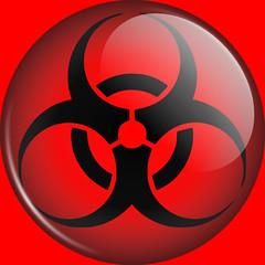 MORTradio Favicon Biohazard Button, Black (MORTradio) Tags: illustration gimp funeral radioactive embalming biohazard favicon inkscape mortuary embalm mortician mortradio