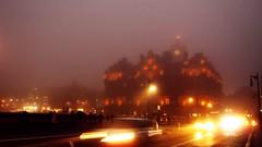 Balmoral hotel in fog (FearfulStills) Tags: city shadow mist fog lights evening edinburgh