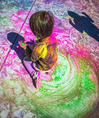 Foster City Holi Festival 2014 (Mike Filippoff) Tags: party chalk colorful dancing bright vibrant powder fostercity 2014 holifestival