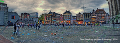 After the Party,Groningen stad,the Netherlands,Europe (Aheroy) Tags: street city holland art netherlands dutch architecture clouds fun town europe colours different nederland surreal bynight fisheye groningen stad grotemarkt streetshot onexplore fcgroningen tonemapped singlerawhdr aheroy aheroyal beautifulgroningen canonef815mmf4lfisheye