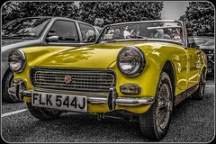 1970 MG Midget (Suggsy69) Tags: car yellow nikon automobile mg midget selectivecolour d5200