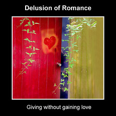 delusion of romance (iHeartsy-Music) Tags: door red plant twins heart song romance illusion twine creepingweed illusionofromance