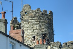 House (Tony Shertila) Tags: blue roof sky tower castle weather skyline wales architecture geotagged day rooftops unitedkingdom britain conway gothic norman clear conwy aerials gbr turrett eurpe conwycommunity geo:lat=5328287222 geo:lon=382948057