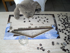 Puzzle time! 4 (pefkosmad) Tags: bear vacation holiday ted teddy hellas fluffy puzzle greece leisure jigsaw greekislands pefkos rodos rhodes dodecanese pefki pefkoi tedricstudmuffin tedrhodes2015