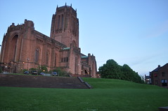 Liverpool Cathedral, England (iliya.hazan) Tags: liverpool england europe nature field green path grass architecture park walks city cathedral christ saviour religion liverpoolcathedral stairs