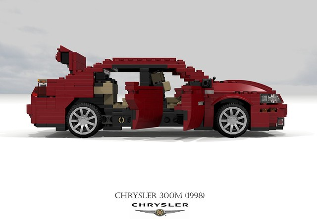 auto usa car america sedan us model lego stuck render m renault corporation concorde 1998 chrysler 300 amc saloon challenge 92 1990s 90s lhs cad lugnuts v6 povray moc 300m ldd miniland lego911 stuckinthe90s